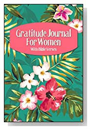Tropical Flowers on Teal Gratitude Journal For Women