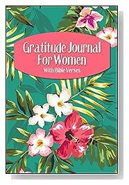 Tropical Flowers on Teal Gratitude Journal For Women