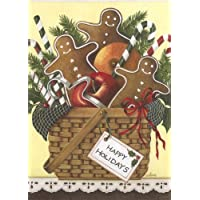Gingerbread Basket Christmas Cards Dianna Swartz