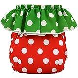 Alva Baby Strawberry Pocket Reuseable Washable Adjustable Cloth Diaper Nappy + 2 Inserts HL01-EU