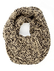 M&S Collection Marl Knitted Snood Scarf with Wool