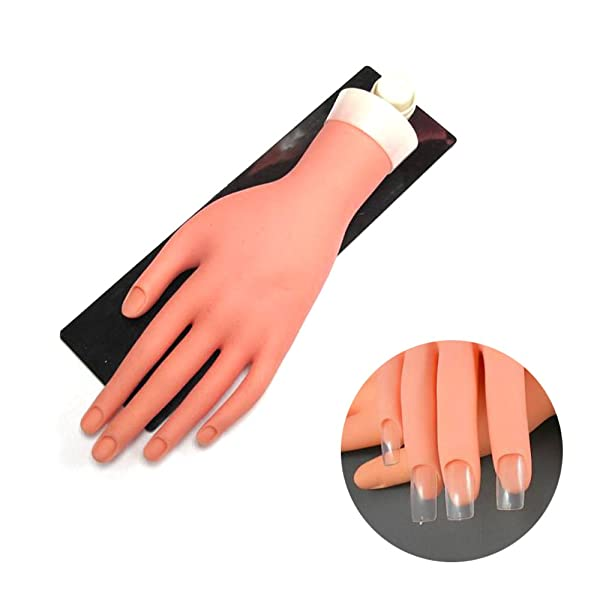 TP Movable Practice Mannequin Hand with Stand and Flexible Fingers ...