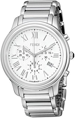 Fendi Classico F252014000 42mm Silver Steel Bracelet & Case Synthetic Sapphire Men's Watch