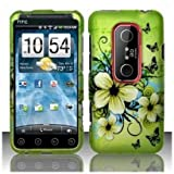 SODIAL(TM) HTC EVO 3D Accessory - Blossoming Spring Flower & Butterflies Protective Hard Case Cover Design for Sprint 4G