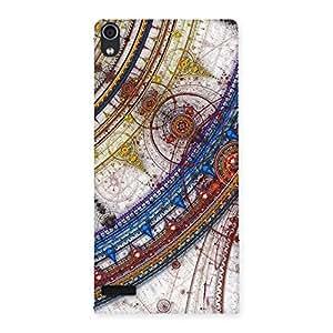 Sonarp Multicolor Back Case Cover for Ascend P6