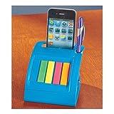 Blue Cellphone Desk Caddy Organizer Holder Sticky Note Pad Holder Storage
