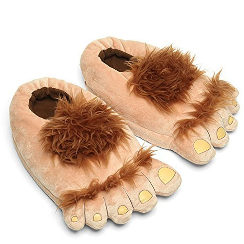 COSEAN Plush Bear Paw Animal Slippers Furry Adventure Slippers Warm Slippers Hobbit