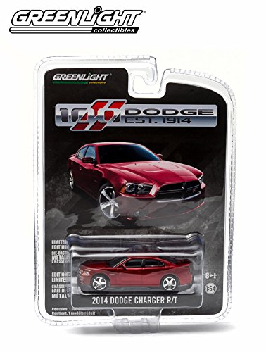 2014 Dodge Charger R/T Red Dodge 100th Anniversary Special Edition 1/64 by Greenlight 27740F (Greenlight Dodge Challenger compare prices)