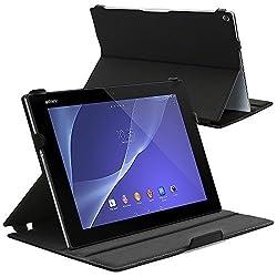 Celicious Notecase U Sony Xperia Z2 Tablet Black Premium Ultra-Slim Wallet Stand Case