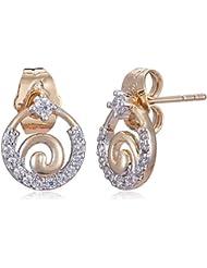 Sia Art Jewellery Stud Earrings For Women (Golden) (AZ3477)