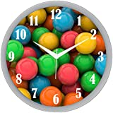 """IT2M 11"""" Round Wall Clock For Kids / Home / Living Room / Bedroom With Glass (Non Ticking Sweep Movement)"""