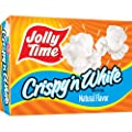 Jolly Time Crispy 'n White Natural Microwave Popcorn, 3-Count Boxes (Pack of 12) by Jolly Time