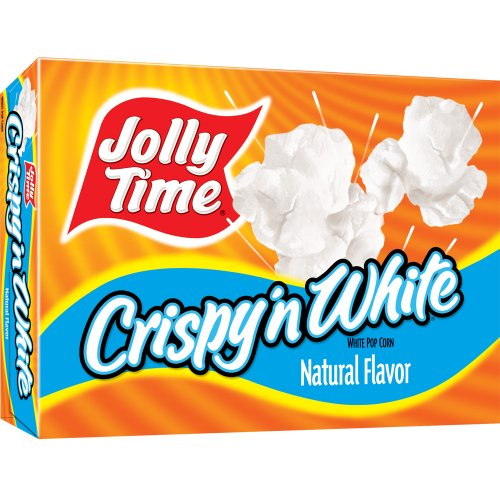 Jolly Time Crispy 'n White Natural Microwave Popcorn, 3-Count Boxes (Pack of 12) (Popcorn Jolly Time compare prices)