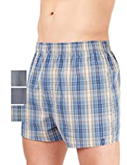 3 Pack North Coast Pure Cotton Assorted Boxers
