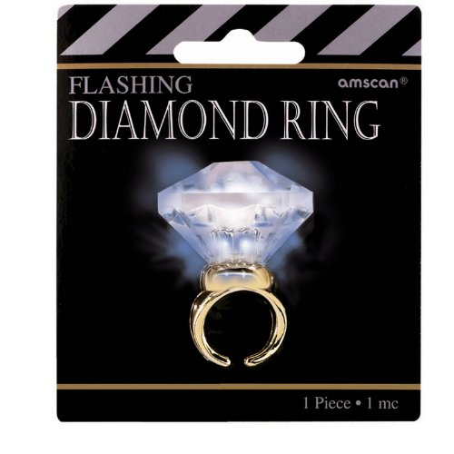 Light Up Faux Diamond Ring - 1