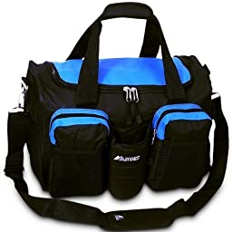 Everest S-223 Sports Duffel w/Shoe/Wet Dry Pocket - Royal Blue/Black by N/A