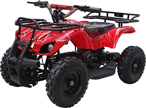 Xtremsports Apache Series Dirt Quad Electric Four-Wheeled Atv All Terrain Vehicle Off-Road Vehicle For Children (Red)