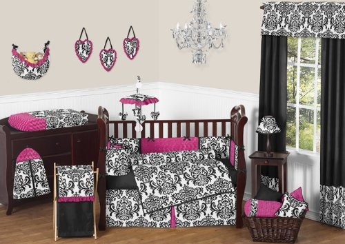 Black White And Pink Bedding 8406 front