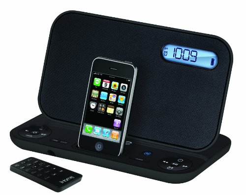 iHome iP45BZ Portable Stereo Rechargeable Alarm Clock Fm Radio for Iphone/ipod (Black)