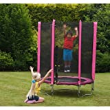 Plum® Junior Trampoline and Enclosure- Pink
