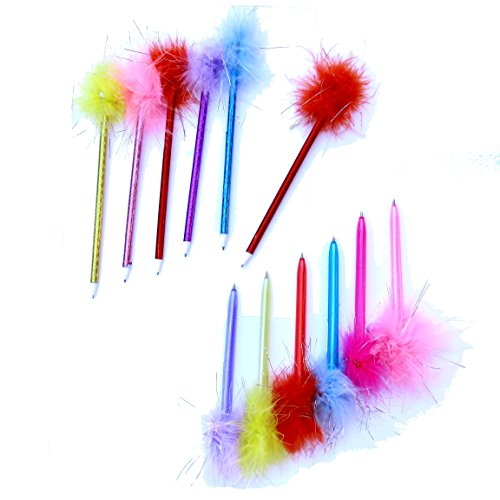 Dazzling Toys Marabou Feather Pens - 2 Dozen, Assorted Colors