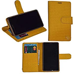 R&A Pu Leather Wallet Flip Case Cover With Card & ID Slots & Magnetic Closure For Samsung Galaxy A3