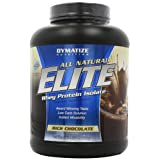Dymatize Nutrition Elite All Natural Rich Chocolate Whey Protein Isolate Powder 2268g Review-image