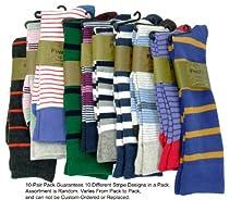 Mens Colorful Cotton Socks (10 PAIR - Seller Random Stripe Style)