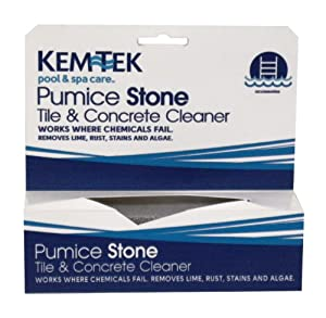 Kem tek 839 pool and spa pumice stone swimming pool maintenance kits patio for Does lowes sell swimming pool supplies