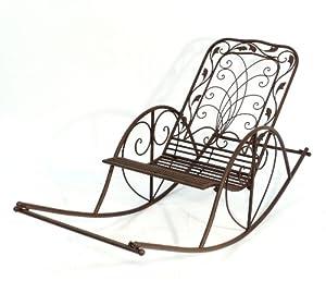 Schaukelstuhl puerto 18355 liegestuhl aus metall sessel schwingsessel relaxstuhl - Liegestuhl metall ...