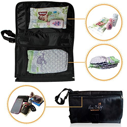 Mom's Besty™ Luxury Baby Change Pad with Built-in Head Cushion – Portable Diaper Changing Station for Travel and Home – BONUS Pacifier Holder Clip