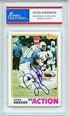 Ottis Anderson Autographed Arizona Cardinals Encapsulated Trading Card - Certified Authentic
