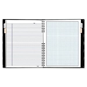Blueline NotePro  Quad Ruled Notebook, Black, 9.25 x 7.25 Inches, 192 Pages (A44C.81)