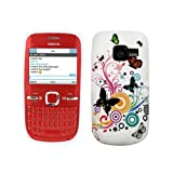 White Butterfly TPU Gel Case Cover For Nokia C3-00 C3