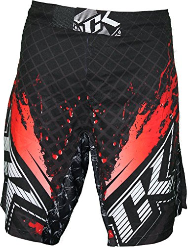 Contract Killer Stained S2 Fight Shorts - Black/Red - 38