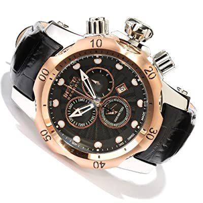 Invicta Men's 10809 Venon Reserve Chronograph Black Textured Dial Watch