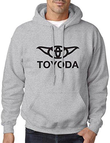 BBT Adult Star Wars Toyoda - Yoda and Toyota Hooded Sweatshirt Hoodie L Sport Grey