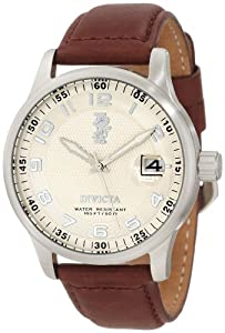 Invicta Men's 12825 I-Force Beige Dial Brown Leather Watch