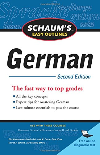 Schaum's Easy Outline of German, Second Edition (Schaum's Easy Outlines)