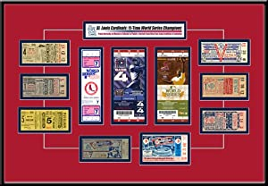 St. Louis Cardinals 11 Time World Series Champions Tickets to History 18 x 24 Framed... by That