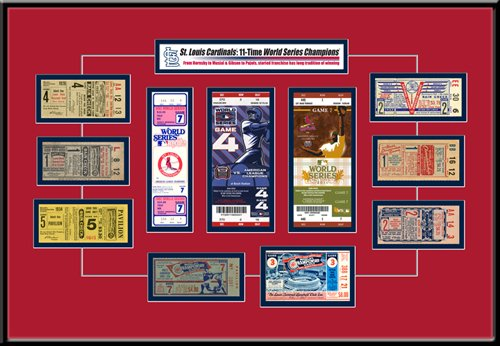 "St. Louis Cardinals 11 Time World Series Champions Tickets to History 18"" x 24"" Framed Print at Amazon.com"