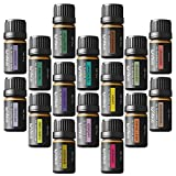 Onepure Aromatherapy Essential Oils Gift Set, 16 Bottles/5ml each, 100% Pure (Ylang Eucalyptus Lemon Peppermint Lavender Lemongrass Clary Sage Rosemary and More)