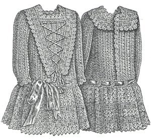 Crochet Patterns On Amazon : Amazon.com: 1889 Crochet Frock for Child Pattern
