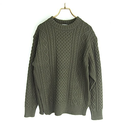 (フレイ アイディー)FRAY I.D サイドファスナーケーブルニットプルオーバー fwnt154111 KHAKI : 服&ファッション小物通販 | Amazon.co.jp