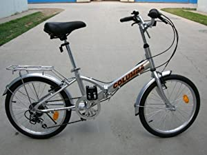 "Columba 20"" Alloy Folding Bike w. Shimano 7 Speed Silver (R20A_SLV)"