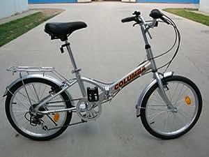 "Columba 20"" Alloy Folding Bike w. Shimano 7 Speed Silver (R20A_SLV)"