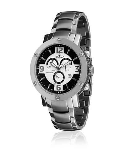 Bassel Reloj con movimiento cuarzo suizo CR4026N Plateado 47  mm