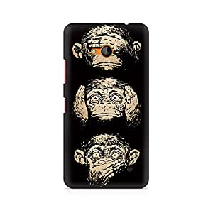 Motivatebox- Three Wise Monkeys Premium Printed Case For Nokia Lumia 640 -Matte Polycarbonate 3D Hard case Mobile Cell Phone Protective BACK CASE COVER. Hard Shockproof Scratch-