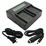 Kapaxen Dual Channel Battery Charger for Sony NP-F330 NP-F530 NP-F550 NP-F570 NP-F730 NP-F750 NP-F760 NP-F770 NP-F950 NP-F960 NP-F970 Camcorder Batteries
