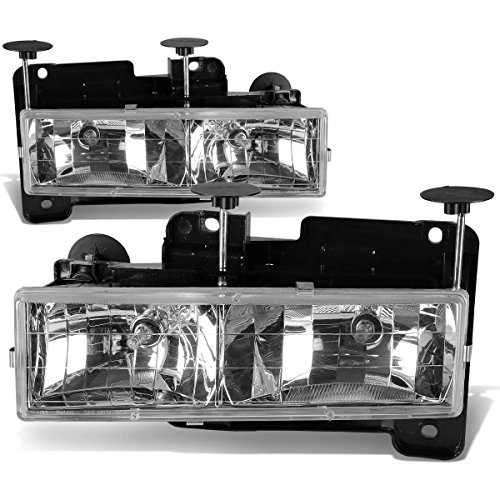 DNA Motoring HL-OH-C10-CH Headlight Assembly (Driver & Passenger Side) (96 Gmc Yukon Headlight Assembly compare prices)